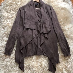 THEORY Brown Cashmere Long Sleeve Cardigan